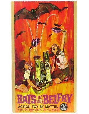 Vintage Mattel Bats in your Belfry Dracula Monster Halloween Game Mint +Box