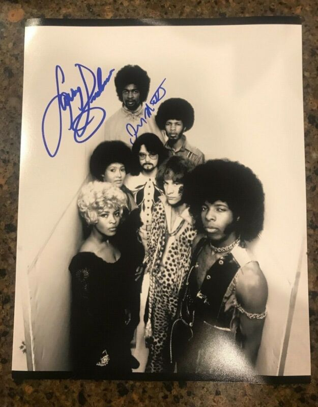 * LARRY GRAHAM & JERRY MARTINI * signed 11x14 photo * SLY & THE FAMILY STONE * 1