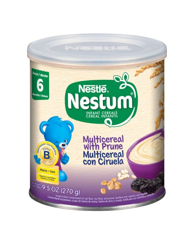🌟12 Cans🌟Nestle Nestum Infant Cereal, multicereal with prune 9.5 Oz 6/2020