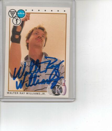 Walter Ray Williams Jr PBA Bowler Bowling Autographed 1990 Kingpins Bowling Card