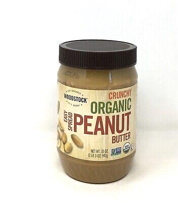 Woodstock Farms - ORGANIC Peanut Butter CRUNCHY, Easy Spread - 35 oz. Jar (S5) Farms Peanut Butter