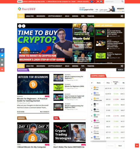 Turnkey CryptoCurrency AutoPilot News Website + Free Hosting