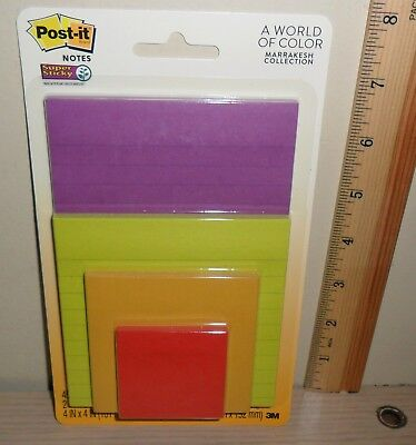 Post-it Notes Variety Pack 4 Different Sized Pads ... 2 3 4