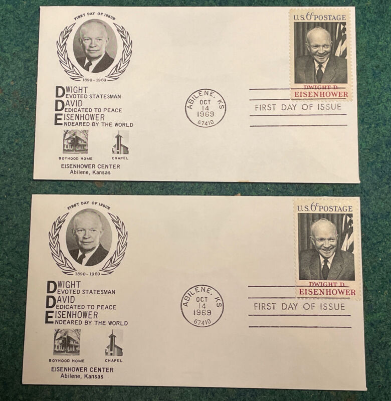 1970 First Day Issue .6¢ Dwight D Eisenhower Envelopes