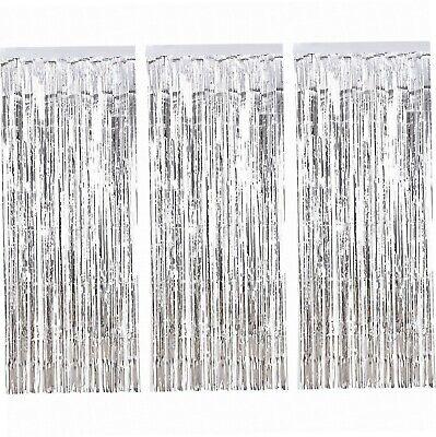 3 Packung Metallic Tinsel Vorhänge, Folie Fringe Shimmer Vorhang Tür Fenster...