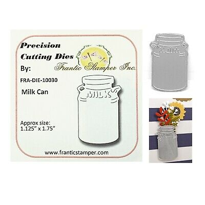 Milk Can Metal Die Cut Frantic Stamper Farm,Dairy,Vase,Craft Cutting Dies