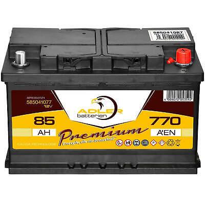 PKW-Batterie 12V 85Ah Adler Premium Starterbatterie ersetzt 77Ah 80Ah 82Ah 88Ah