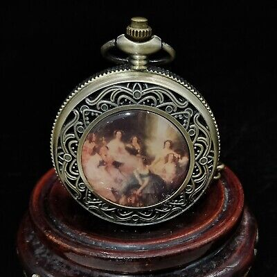 Chinese copper Handmade Exquisite Mechanics Pocket Watch 13265