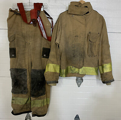 Firefighter Turnout Bunker Gear Pants Jacket Suspenders And Liners Used
