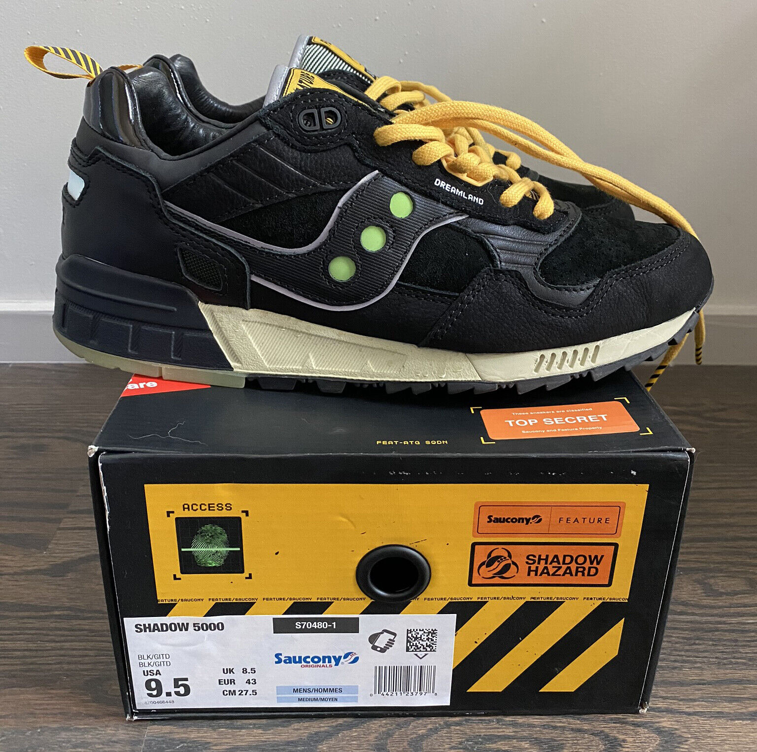 Feature x Saucony Shadow 5000 Dreamland Size 9.5 Worn Once