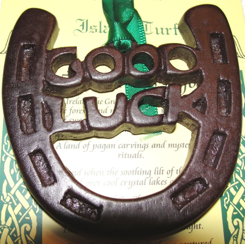 Horseshoe Ornament Island Turf Crafts Black Bog Collection County Tyrone