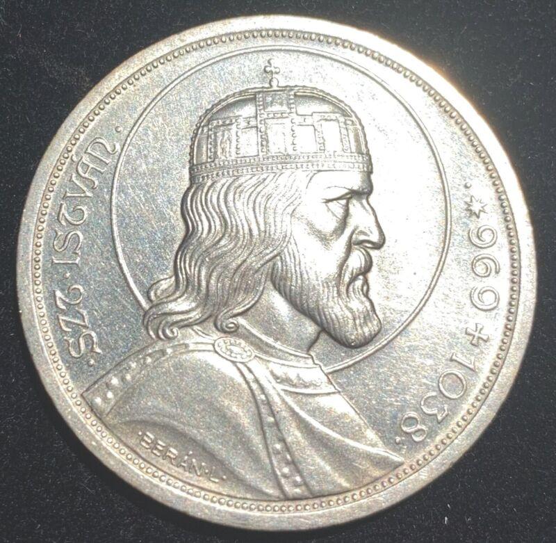 Hungary 1938 5 Pengo Silver Coin