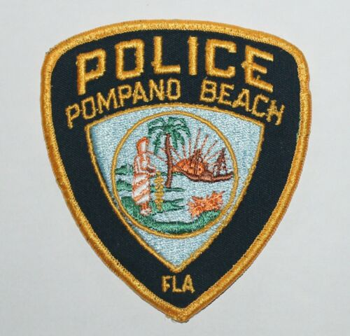 POMPANO BEACH POLICE Florida FL Fla PD Used Worn Patch