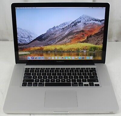 "Apple MacBook Pro 15"" Mid 2010 Core i5 2.4GHz 8GB RAM 128GB SSD High Sierra"