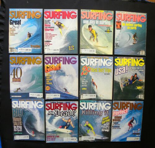 SURFING MAGAZINE 1992 VOL.28  LOT OF 12 ISSUES SURFER LONGBOARDING  HAWAII