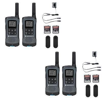 Motorola Walkie Talkie Radios 4 PACK Rechargeable Eco Smart 20 Mile 22 Channels