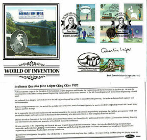 2007-WORLD-OF-INVENTION-SIGNED-PROFESSOR-QUENTIN-LEIPER-BENHAM-FIRST-DAY-COVER