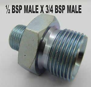 Hydraulic Adaptor Fitting Valve BSP hose inch Oil equal mxm air water ADAPTER