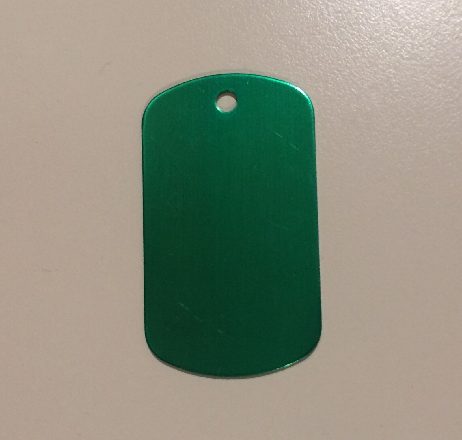 Personalized Metal Luggage tags (set of 5) with free cables. Five color options! Green