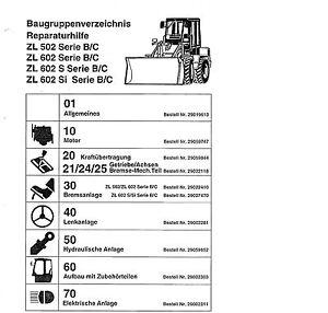 Radlader Zettelmeyer Volvo 502 602 602 SL Reparaturhilfe Werkstatthandbuch DVD