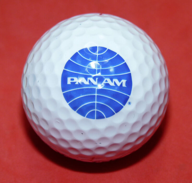 Vintage Pan Am Airlines Golf Sports Golfer Golf Ball NOS   c3