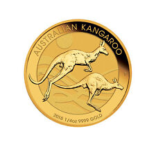 Lot of 4 - 2018 $25 1/4oz Gold Australian Kangaroo .9999 BU