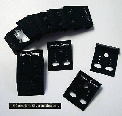 100 Black Acrylic Earring Display Cards Pierced Clip On Jewelry Display Jd038b