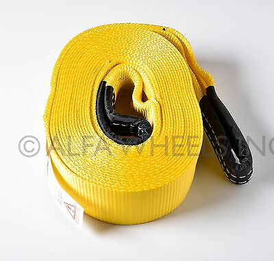 """3"""" 20000 lbs Tow Strap 30 ft winch tree saver protector off-road snatch recovery"""