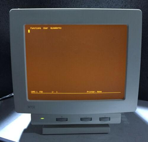 Vintage Wyse WY-65 901567-07 Amber Terminal Monitor