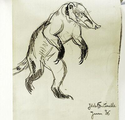 "NUDE Woman Sketch 8.5x11/"" ORIGINAL ART pencil drawing comic Parrish pinup"