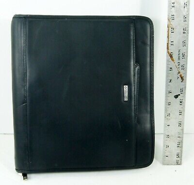 Franklin Covey 3 Ring Binder Black Leather Planner Organizer With Handles