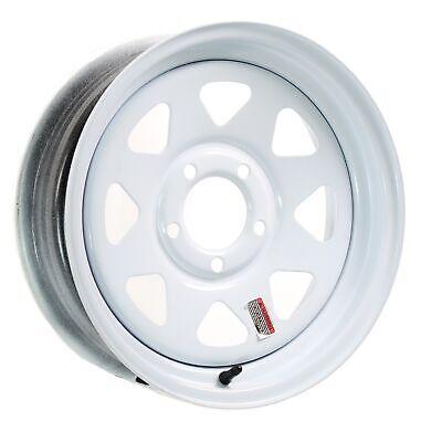 2-Pack Trailer Rims 14x6 5 Bolt Hole 4.5 in. OC White Steel Spoke Wheel
