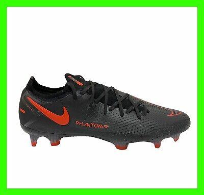 "Nike Phantom GT Elite FG ""Black Chile Red"" Soccer Cleats CK8439-060 Mens Size 10"