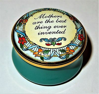HALCYON DAYS ENAMEL BOX- MOTHERS ARE THE BEST THING EVER INVENTED - MOTHER'S