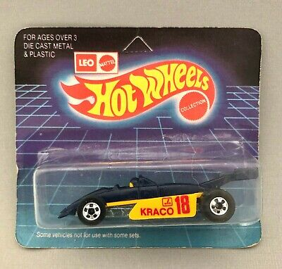 1992 Leo India Hot Wheels '82 Krako Formula Race Car MOC