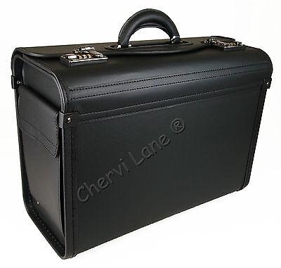 New Black Business Briefcase Executive Laptop Travel Flight Pilot Bag Carry Case