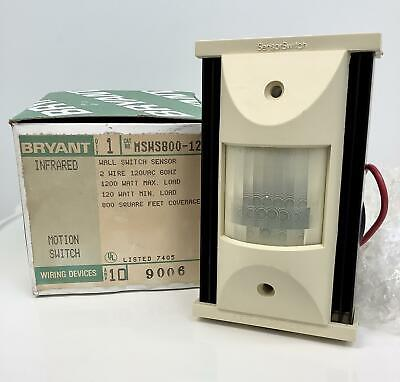 Bryant Msw 5800-120 Infrared Wall Sensor Motion Switch