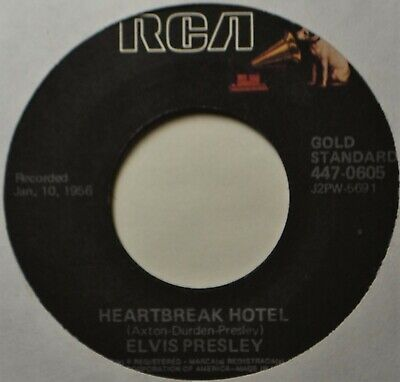 "Elvis Presley Heartbreak Hotel I Was the One RI NEW 45 7"" Vinyl  ExtrasShipFree"