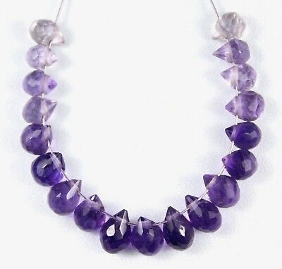 Natural 9.55cts Amethyst Multi-Color Faceted Drop Beads 19pcs (Multi Faceted Amethyst)
