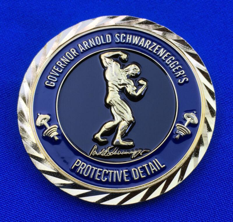 Gov Arnold Schwarzenegger Protective Detail 2013 Sports Festival Challenge Coin
