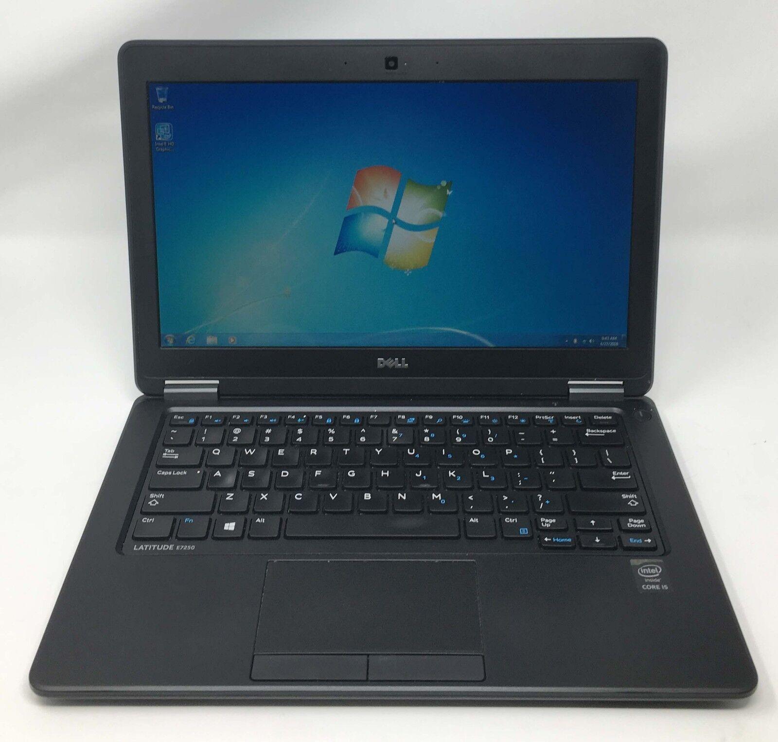 Dell Ultrabook E7250 Core i5-5300u 2.3GHz 8GB 128GB SSD Webcam Win 7 Laptop