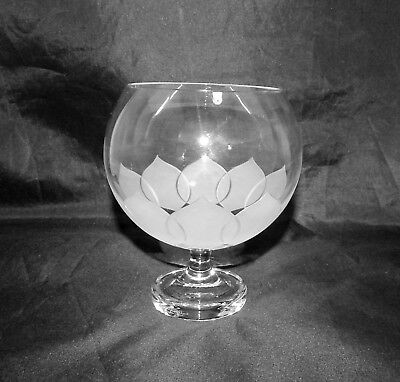 Rosenthal Studio Line Frosted Glass Lotus Blossoms Footed Rose Bowl