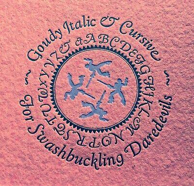 New Letterpress Type - 18 Goudy Cursive Swash