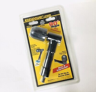 90-degree Angle Drill Attachment Keyless Chuck Opens 116 To 38 Eazypower