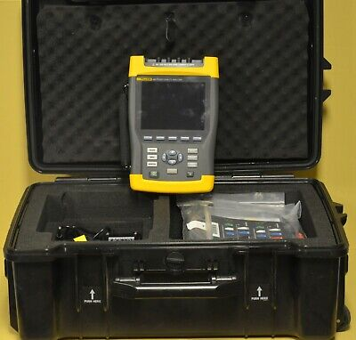 Fluke 435 Series Three Phase Power Quality Energy Analyzer Meter W Harmonics