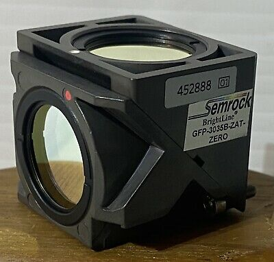Zeiss 452888 Fluorescence Reflector Cube Semrock Brightline Gfp-3035b-zat-zero