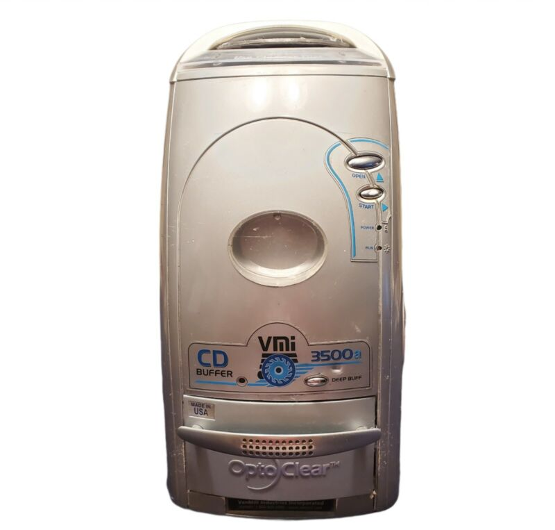 Venmill VMI 3500a Disc Buffing Machine Fixes For CDs DVDs Plus Accessories.