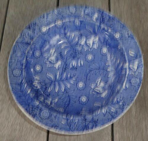 "Royal Tudor Ware England Blue Chintz Floral Rimmed Bowl 6-3/8"" BS1"