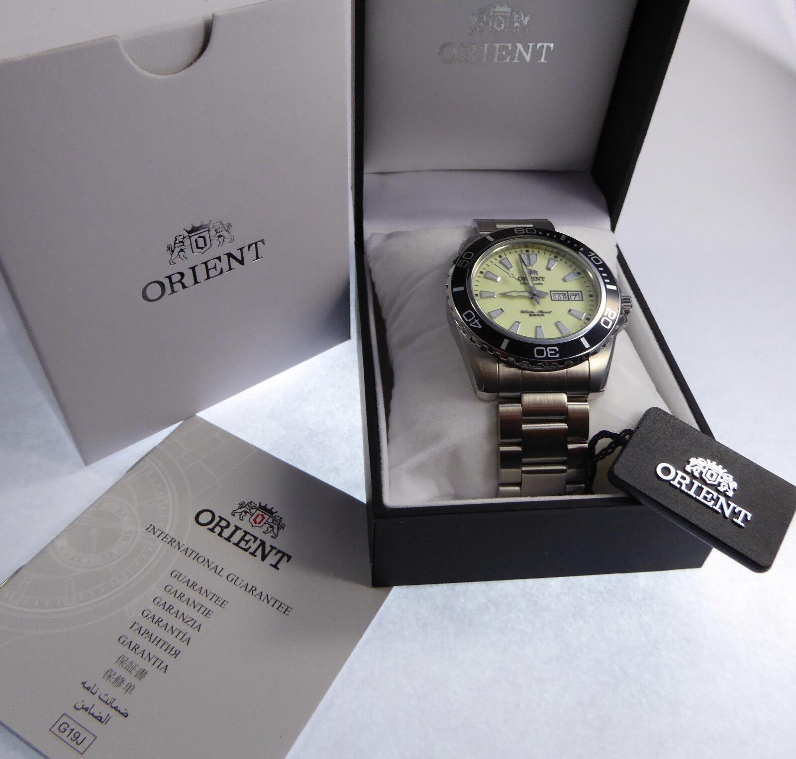 XXL 45 mm Orient Mako SUPERLUMINOVA Automatic Watch Automatik Herren Taucher Uhr