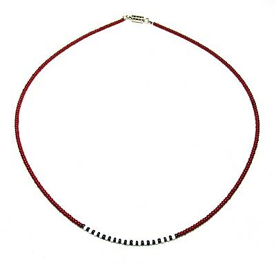 Necklace Choker Seed Beads Maroon Black White Boho Hippie Dainty Minimalist](Maroon Necklace)